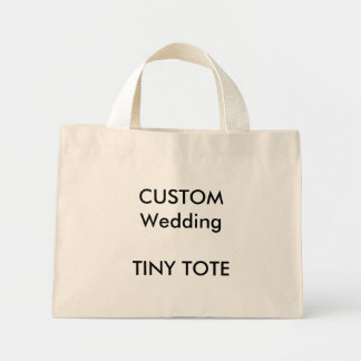 "Custom ""Tiny"" Small Tote Bag (NATURAL Colour)"