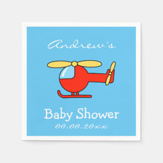 Custom toy helicopter baby shower napkins paper napkins