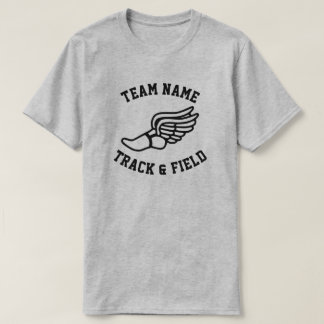 Custom Track & Field Team Name T-shirts