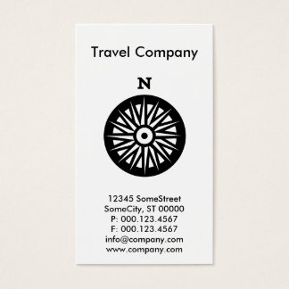 custom travel company business card