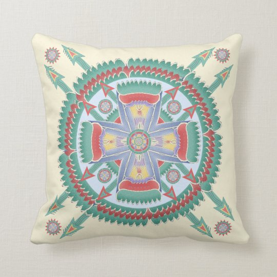 Custom Tribal Motif Pillow