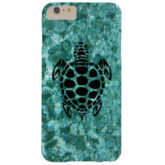Custom Tribal Sea Turtle Aqua Blue Barely There iPhone 6 Plus Case