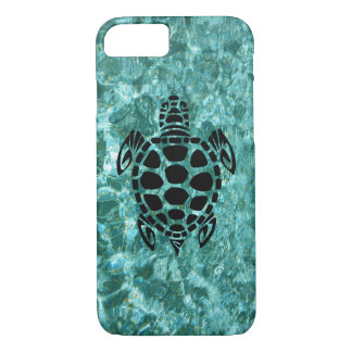 Custom Tribal Sea Turtle Aqua Blue iPhone 8/7 Case