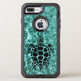 Custom Tribal Sea Turtle Aqua Blue OtterBox Defender iPhone 7 Plus Case