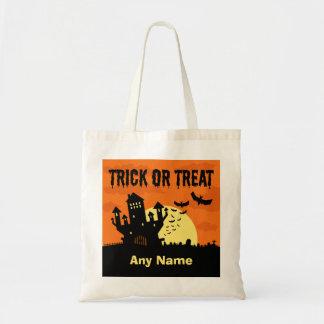 Custom Trick or Treat Castle & Graveyard Tote Bag