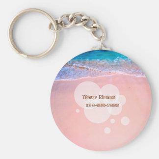 Custom Tropical Beach Keychain