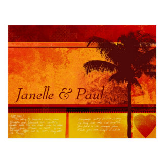 Custom Tropical Palm Tree Cards