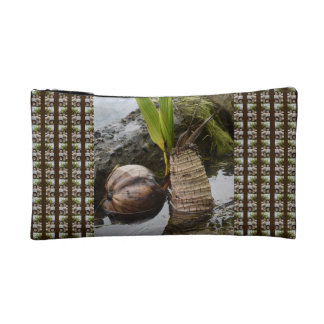 Custom Tropical Palm Trees Pattern Cosmetic Bag