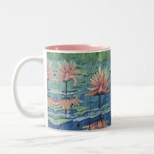 Custom Tropical Peach Lilies Coffee Mug - Yotigo