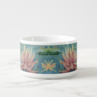Custom Tropical Peach Lilies Soup Mug - Yotigo