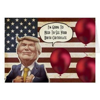 Custom Trump Birthday Card