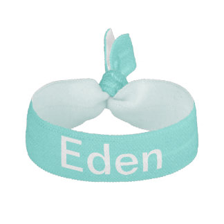 Custom Turquoise Fashionable Color Matched Hair Tie