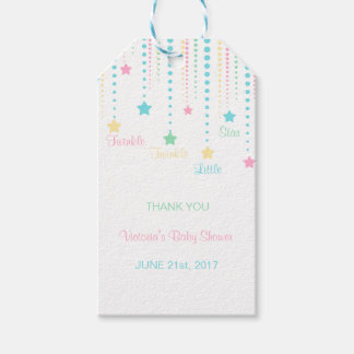 Custom Twinkle Twinkle Little Star Favor Tags Pack Of Gift Tags