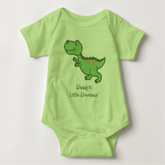 Custom Tyrannosaurus Rex Dinosaur Cartoon Baby Bodysuit