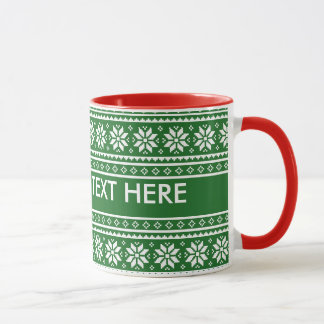 Custom Ugly Christmas Sweater 11oz ringer mugs