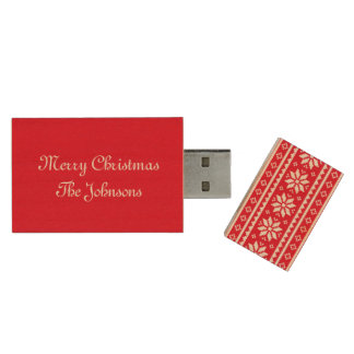 Custom UGLY CHRISTMAS SWEATER wood usb flash drive Wood USB 2.0 Flash Drive