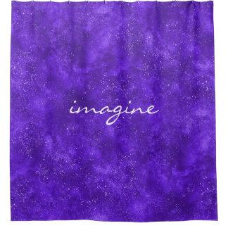 Custom ultra violet shower curtain