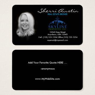Custom, Unique, Elegant,  Photo Real Estate Card !