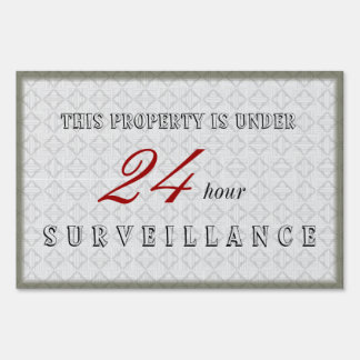 Custom Upscale Home and Business Surveillance Sign