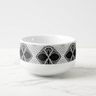 Custom Urban Black & White Mug - Soup Mug Lover