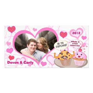 Custom Valentine Cupcake Muffin Photo Card
