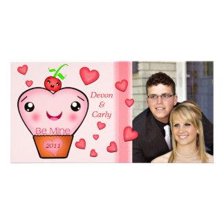 Custom Valentine's Day Kawaii Photo Card