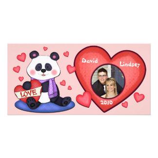 Custom Valentine's Day Photo Card - Panda Bear
