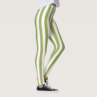 Custom Vertical Green Strip leggings