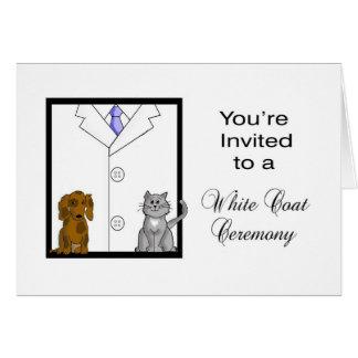 Custom Veterinarian White Coat Ceremony Invitation