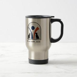 Custom Veterinary Animal Logo with Cat and Dog Travel Mug