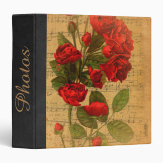Custom Victorian Music Sheet Watercolor Rose Binder