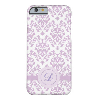 Custom, Victorian Style, Purple Damask Barely There iPhone 6 Case