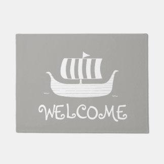 Custom viking longboat door mat/rug doormat