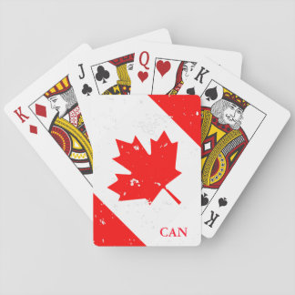 Custom vintage Candian flag playing cards