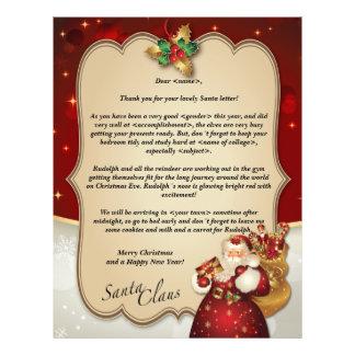 Custom vintage Christmas red letter from Santa… Letterhead Template