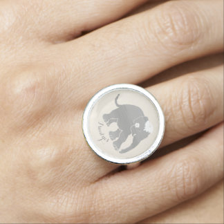 Custom vintage elephant bride say yes engagement rings