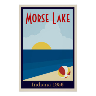 Custom Vintage Lake or Beach Poster