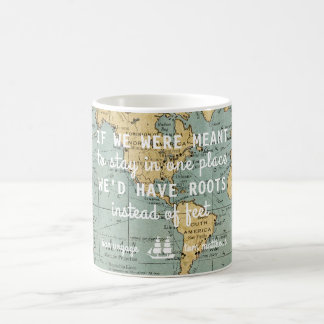 Custom Vintage Map Travel Quotes | Mug