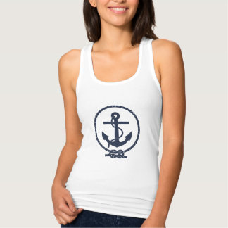 Custom Vintage Nautical Anchor and Line Tank Top