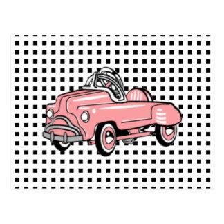 Custom VINTAGE PINK PEDAL CAR Card