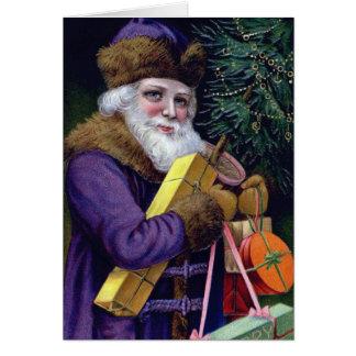 Custom Vintage Santa Photo Insert Christmas Card