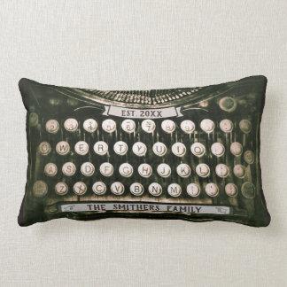 Custom Vintage Typewriter Lumbar Pillow