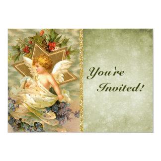 Custom Vintage Victorian Christmas Angel | Holiday Card