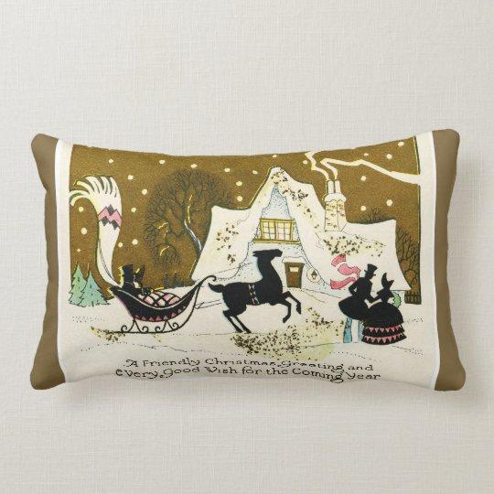 Custom Vintage Victorian Christmas Throw Pillow