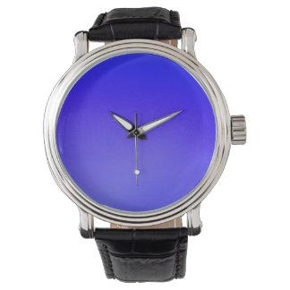 "Custom Vintage Watch ""Night"" Indigo Blue"