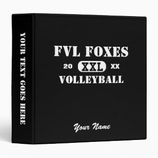 Custom Volleyball FVL Foxes Binder 1.5""