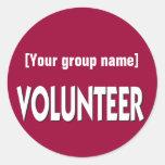Custom Volunteer Badge Round Sticker