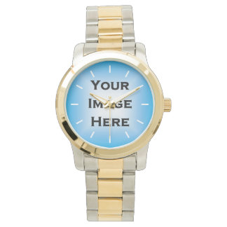 Custom Watch With White Ticks