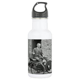 Custom water bottle with vintage image