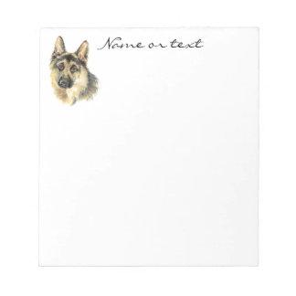 Custom Watercolor German Shepherd Pet Dog Animal Notepad